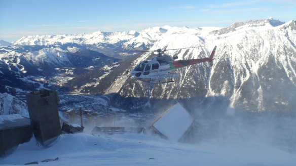 Heli at Gare des Glaciers