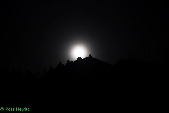 Chamonix full moon