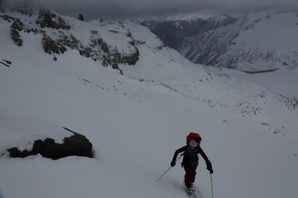 Michelle Blaydon en route to Dents du Midi refuge