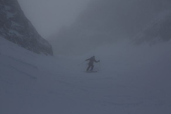 Michelle Blaydon in Dent Jaune Couloir 1