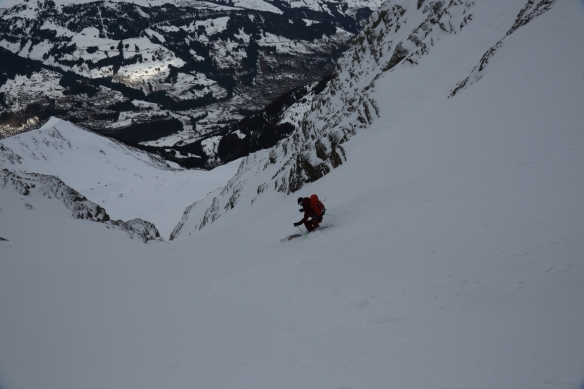Michelle Blaydon in Dent Jaune Couloir  8