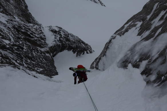 Michelle Blaydon in Dent Jaune Couloir 11