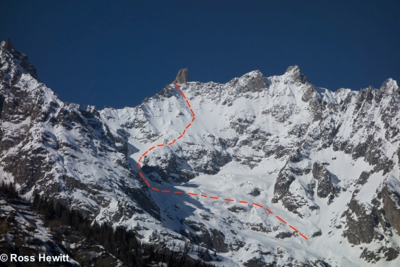 Dent de Geant South Face route
