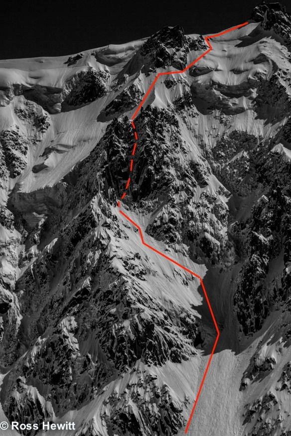 Frendo spur ski route