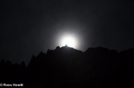 Full Moon on Aiguille du Plan