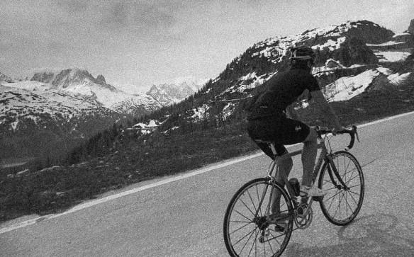 Chamonix to Emosson Dam road biking 3