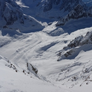 Going solo, South Face of Courtes