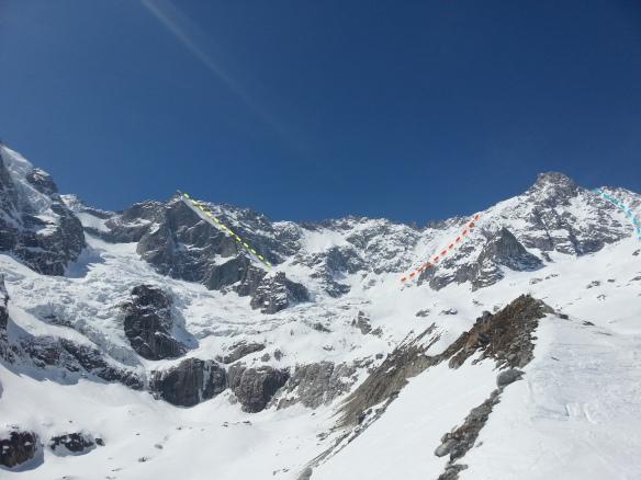 A neuve cirque ski descents topo Ross Hewitt