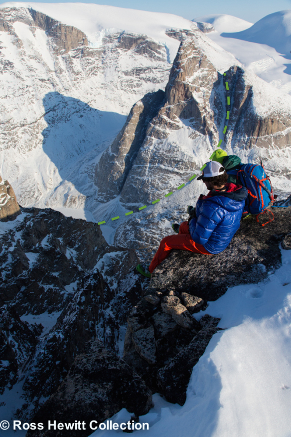 baffin-stump spire NE col topo Ross Hewitt