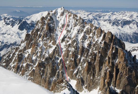 chardonnet-se-couloir ski descent topo ross hewitt