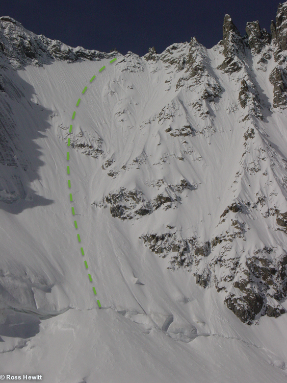 col des courtes ski descent topo ross hewitt