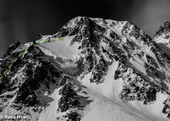 cordier gabarrou ski descent topo ross hewitt