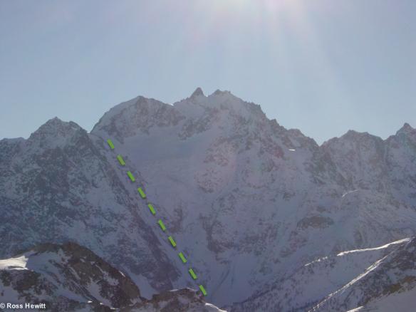 davin couloir ski descent topo ecrins ross hewittjpg