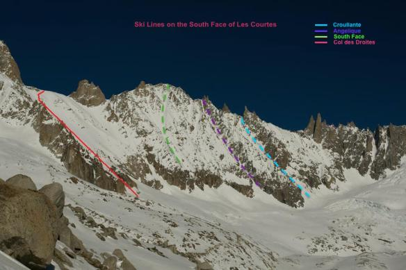 les courtes south face topo Ross Hewitt