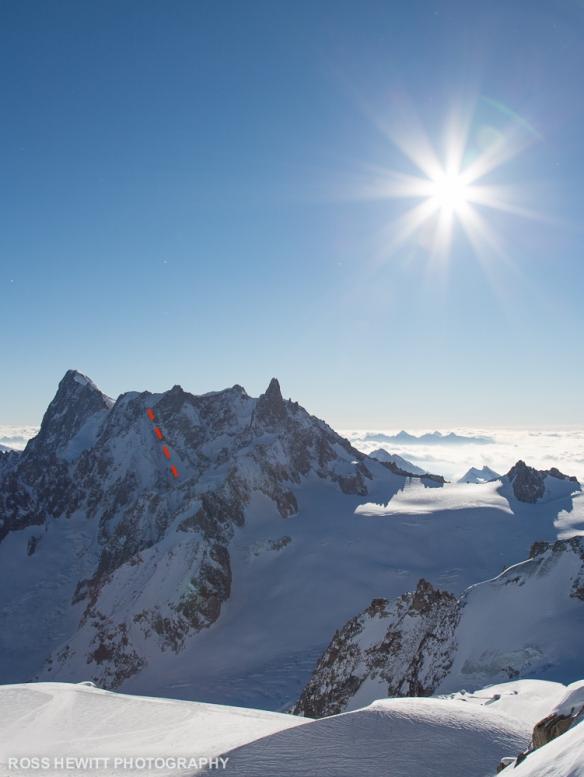 Mont Mallet West Face Topo-1