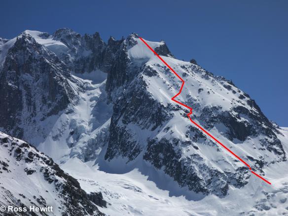 noire-nw-face-ski descent-topo-ross hewitt