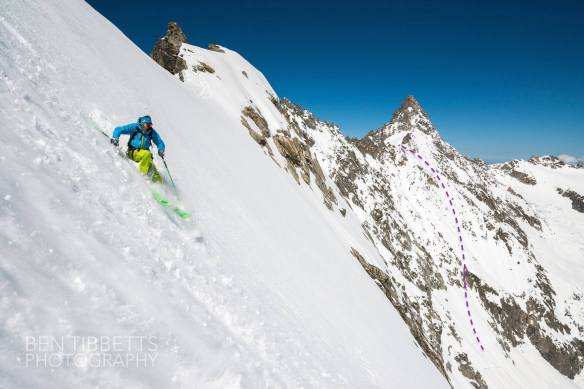 passage d'argentiere ski descent top ross hewitt