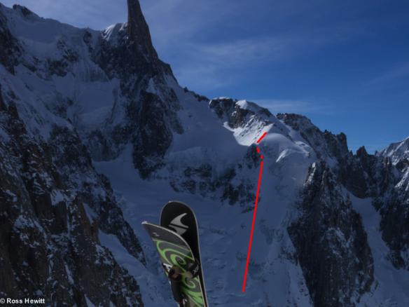 ski traverse-of-noire pt yield topo-ross hewitt-