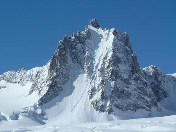 tour ronde north face ski descent topo ross hewitt