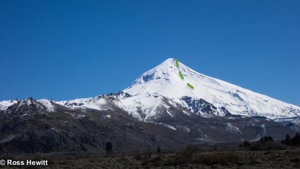 volcano-lanin-east-couloir-ski descent-topo-ross hewitt