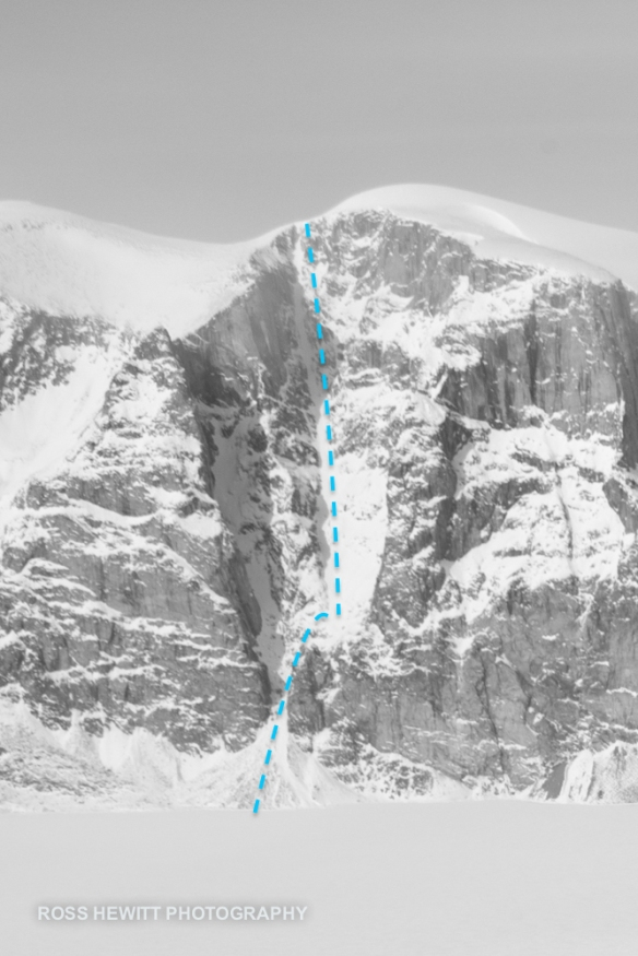 Walker Arm Couloir Ross Hewitt topo-1