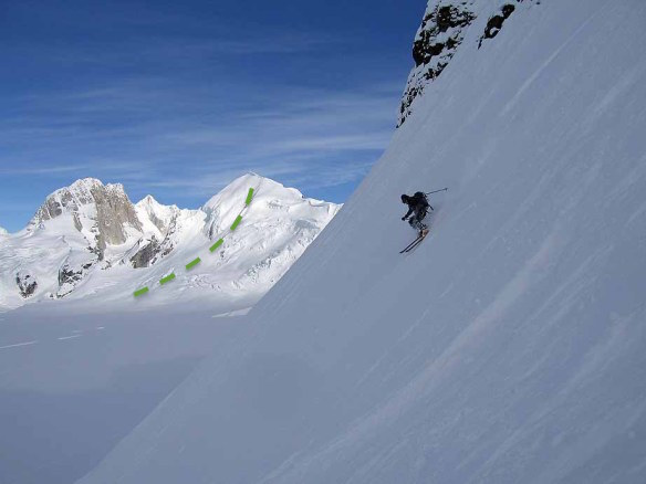 west face ski descent of mt barille topo ross hewitt