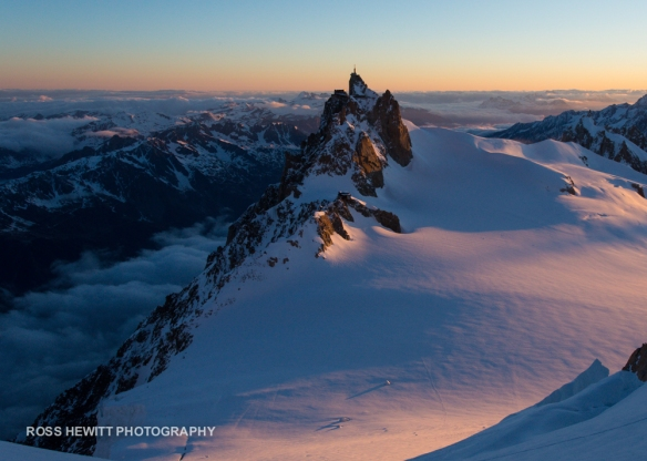 Sunrise Aiguille du Midi Chamonix France Ross Hewitt-1