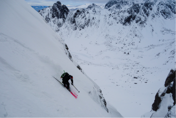 Lofoten 8 Ross Hewitt first descent Nilsviktinden